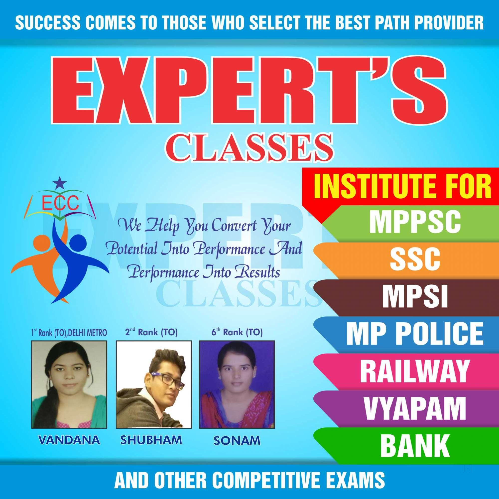 Experts Classes in Indrapuri Bhopal